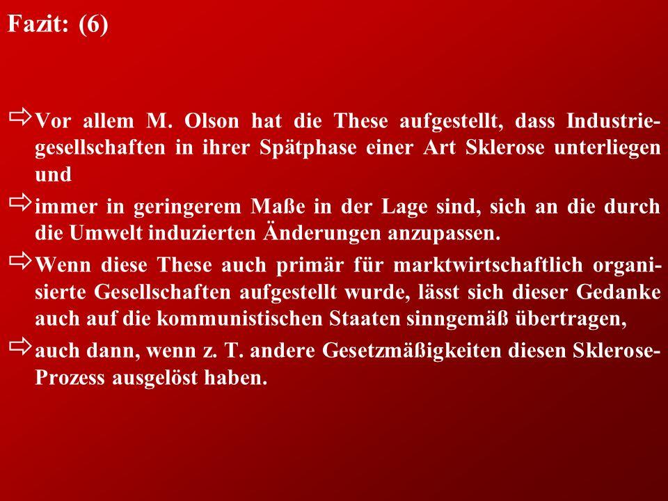 Fazit: (6) ð Vor allem M.