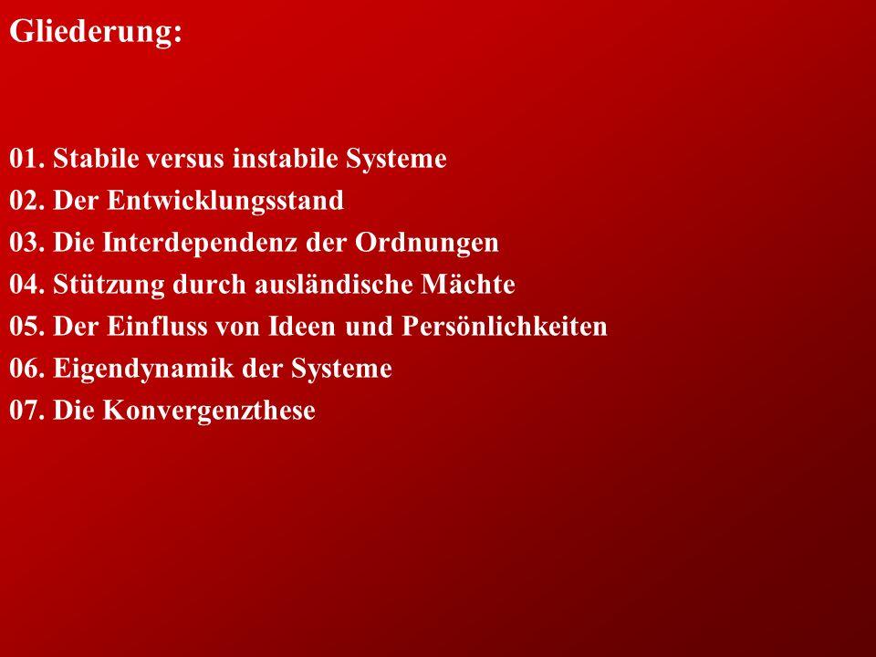 Gliederung: 01.Stabile versus instabile Systeme 02.