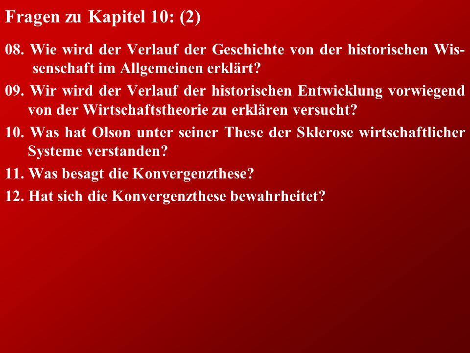 Fragen zu Kapitel 10: (2) 08.