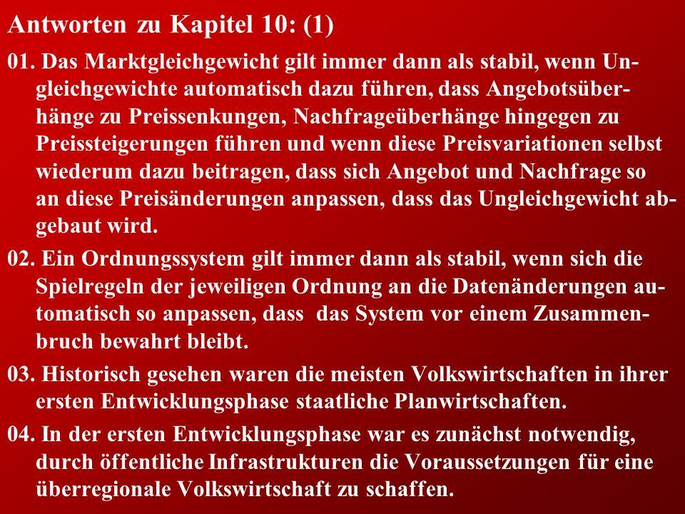 Antworten zu Kapitel 10: (1) 01.