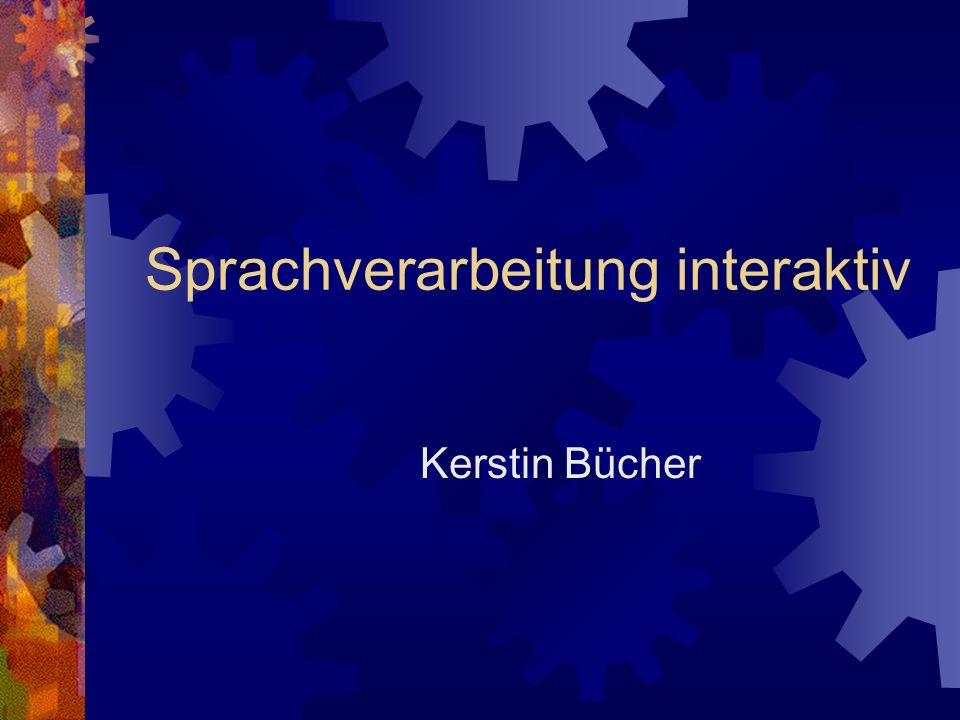 Sprachverarbeitung interaktiv Kerstin Bücher