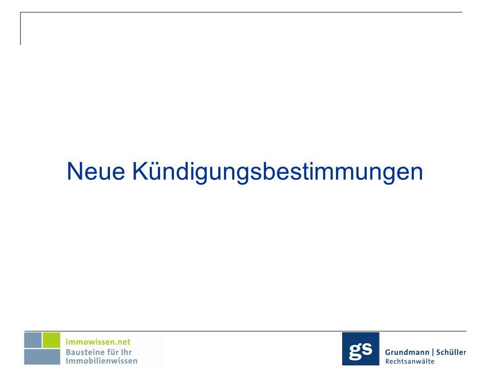 Überblick: Nichtleistung der Mietsicherheit Kündigungsbeschränkung bei Erwerb durch Personengesellschaften