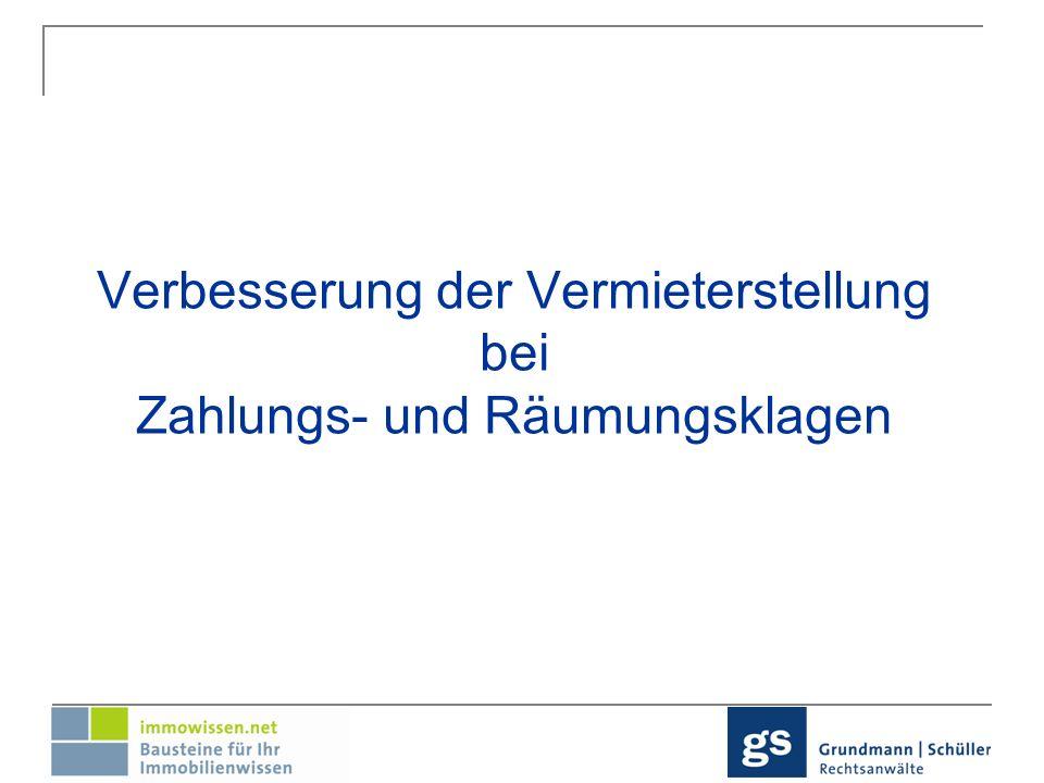 Überblick: Sicherungsanordnung Räumungstitel gegen unbekannte Dritte Räumungstitel im Wege des Einstweiligen Rechtschutzes