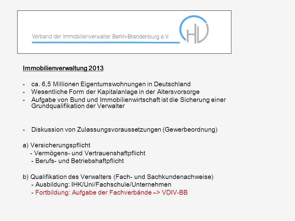Immobilienverwaltung 2013 -ca.