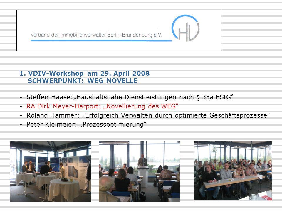 1.VDIV-Workshop am 29.