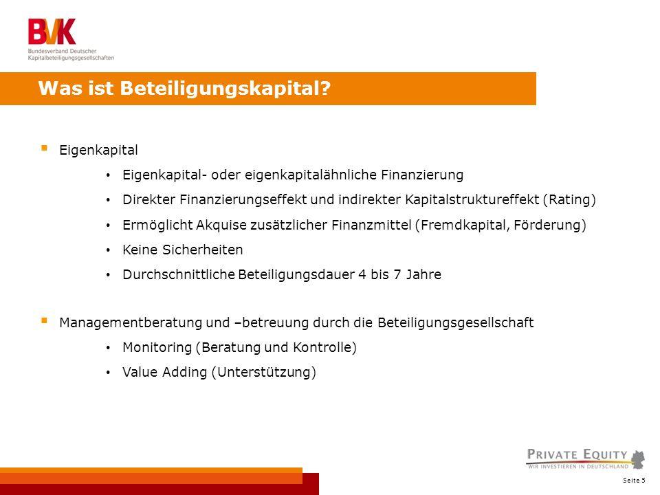 Seite 5 Eigenkapital Eigenkapital- oder eigenkapitalähnliche Finanzierung Direkter Finanzierungseffekt und indirekter Kapitalstruktureffekt (Rating) E
