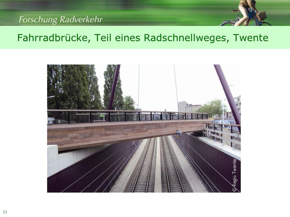 12 Fahrradbrücke, Teil eines Radschnellweges, Twente