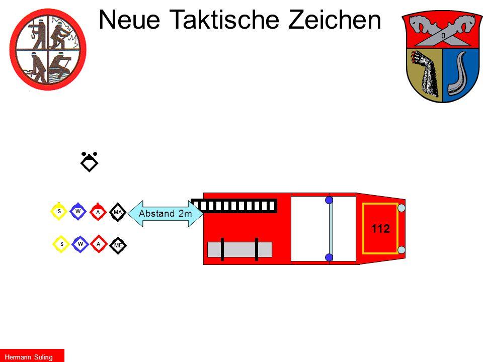 W A W A Me Ma S S 112 G MA ME S A W AWS Neue Taktische Zeichen Abstand 2m Hermann Suling