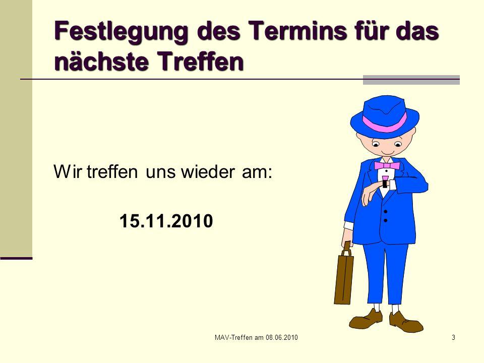 MAV-Treffen am 08.06.201054 Neues aus dem Arbeits- und Tarifrecht Urteil des BAG vom 20.