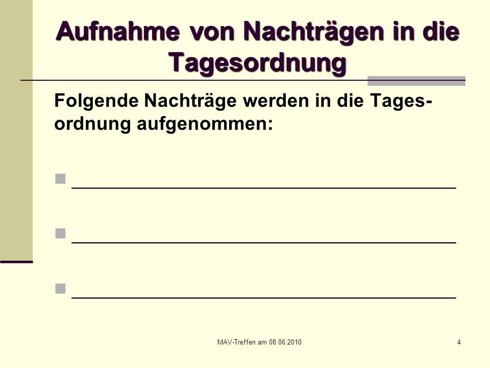 MAV-Treffen am 08.06.201055 Neues aus dem Arbeits- und Tarifrecht Urteil des BAG vom 24.