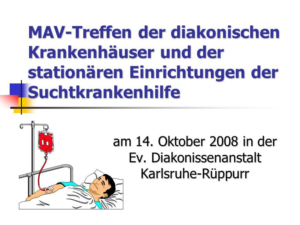 MAV-Treffen der diakonischen Krankenhäuser und der stationären Einrichtungen der Suchtkrankenhilfe am 14.