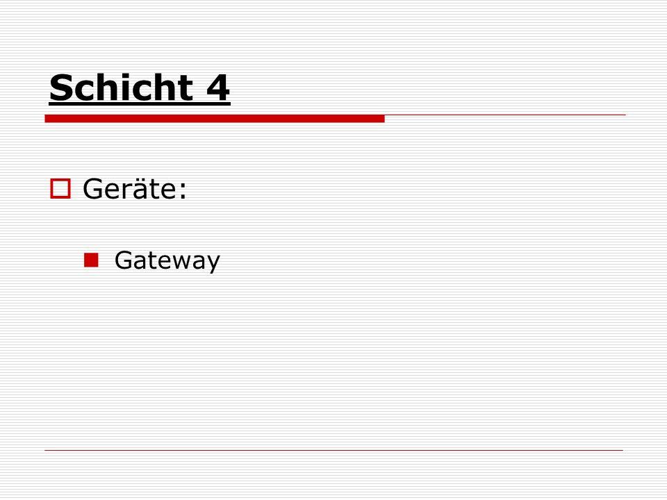Schicht 4 Geräte: Gateway