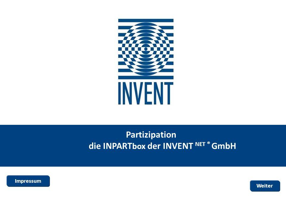 Partizipation die INPART box der INVENT NET ® GmbH Weiter Impressum