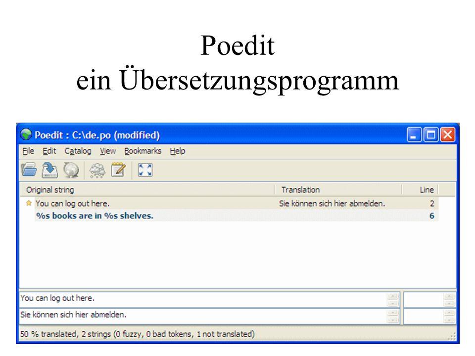 Poedit ein Übersetzungsprogramm