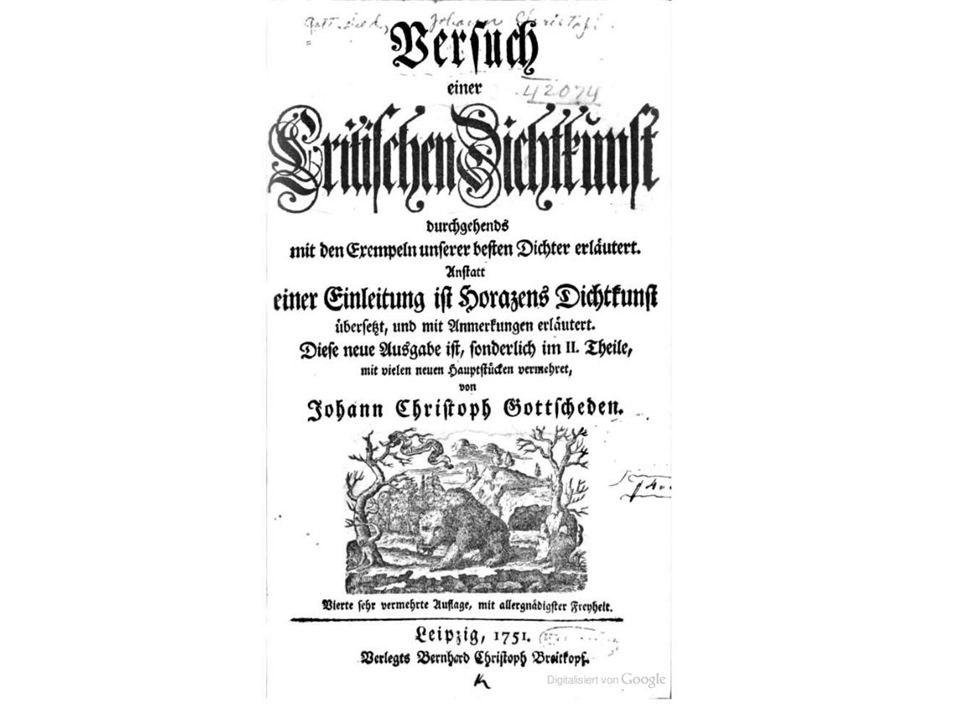 Regelpoetik In der Critischen Dichtkunst (zuerst 1730, 4.
