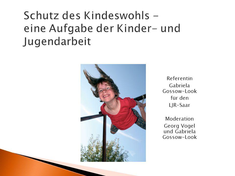 Referentin Gabriela Gossow-Look für den LJR-Saar Moderation Georg Vogel und Gabriela Gossow-Look