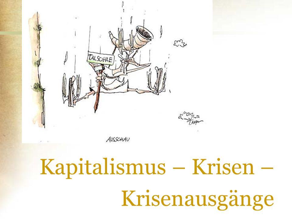 Kapitalismus – Krisen – Krisenausgänge