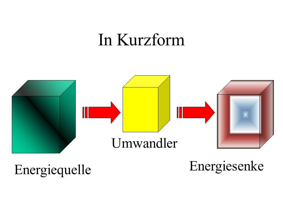 In Kurzform Energiequelle Umwandler Energiesenke