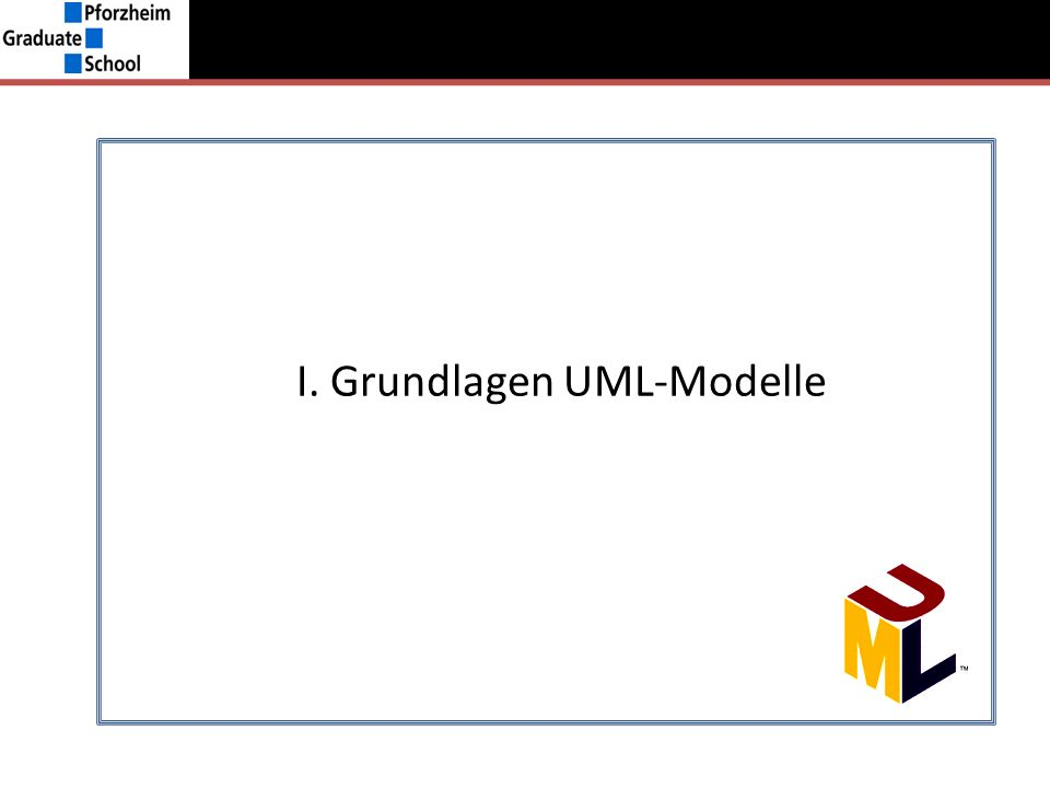 Struktur (Rational Rose) Struktur I.Grundlagen UML –ModelleII.