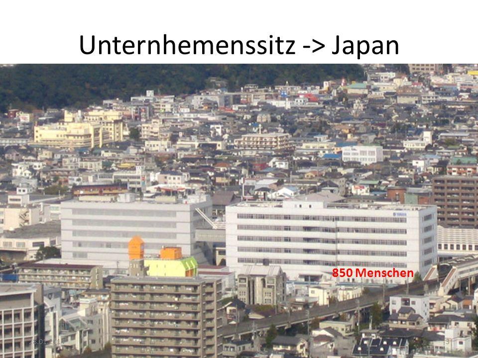Unternhemenssitz -> Japan 850 Menschen 328.01.2014