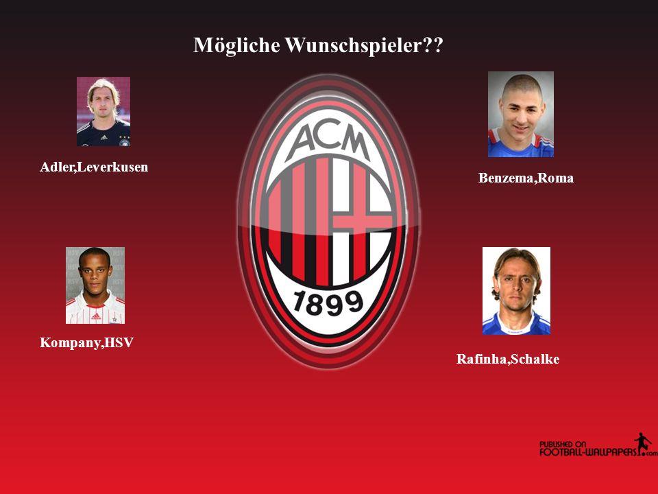 Mögliche Wunschspieler Adler,Leverkusen Benzema,Roma Kompany,HSV Rafinha,Schalke