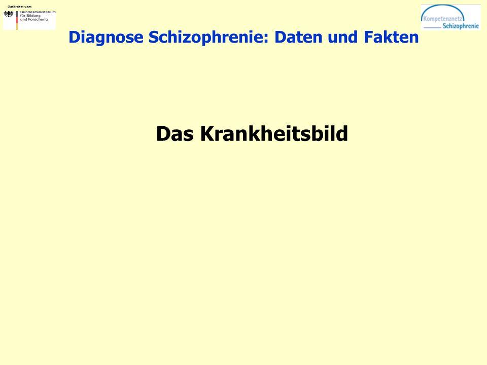 Gefördert vom Diagnose Schizophrenie: Daten und Fakten Das Krankheitsbild