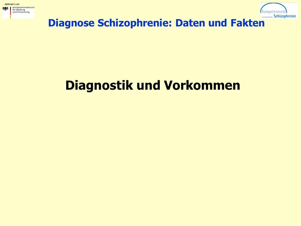 Gefördert vom Diagnose Schizophrenie: Daten und Fakten Diagnostik und Vorkommen