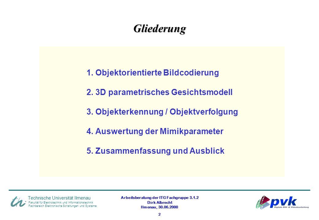 Arbeitsberatung der ITG Fachgruppe 3.1.2 Dirk Albrecht Ilmenau, 30.06.2000 2 Fakultät für Elektrotechnik und Informationstechnik Fachbereich Elektroni