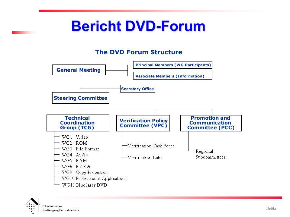 FH Wiesbaden Studiengang Fernsehtechnik Hedtke FH Wiesbaden Studiengang Fernsehtechnik Bericht DVD-Forum