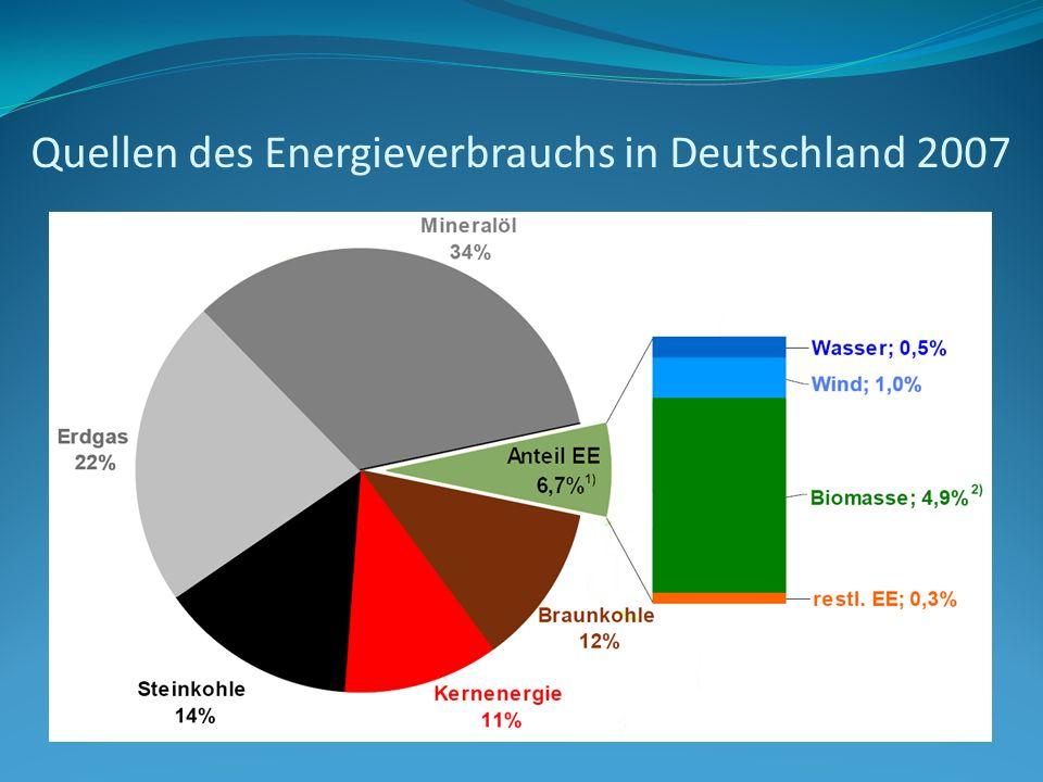 Quellen des Energieverbrauchs in Deutschland 2007