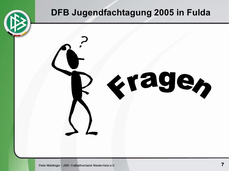 7 Peter Waldinger / JBB / Fußballverband Niederrhein e.V. DFB Jugendfachtagung 2005 in Fulda