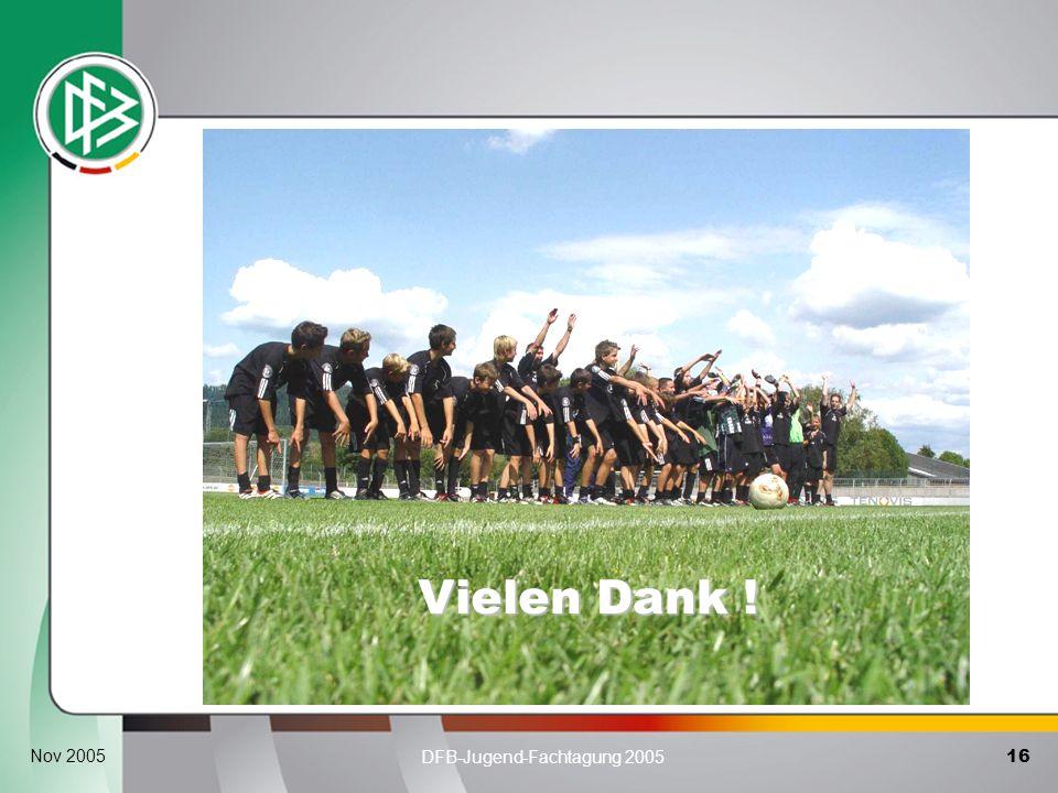 16 DFB-Jugend-Fachtagung 2005 Nov 2005 Vielen Dank !
