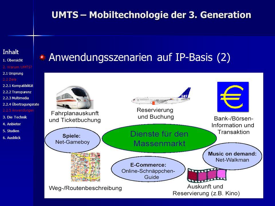 UMTS – Mobiltechnologie der 3. Generation Inhalt 1.