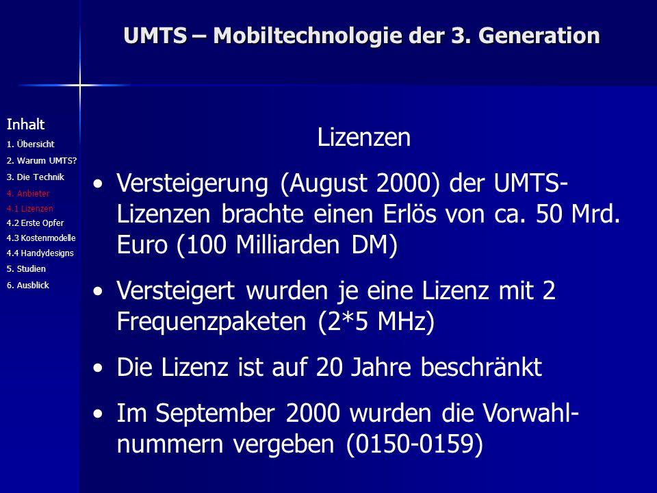 UMTS – Mobiltechnologie der 3.