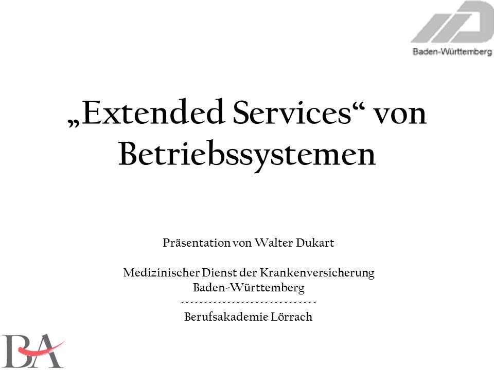 Präsentation von Walter Dukart Medizinischer Dienst der Krankenversicherung Baden-Württemberg ----------------------------- Berufsakademie Lörrach Ext