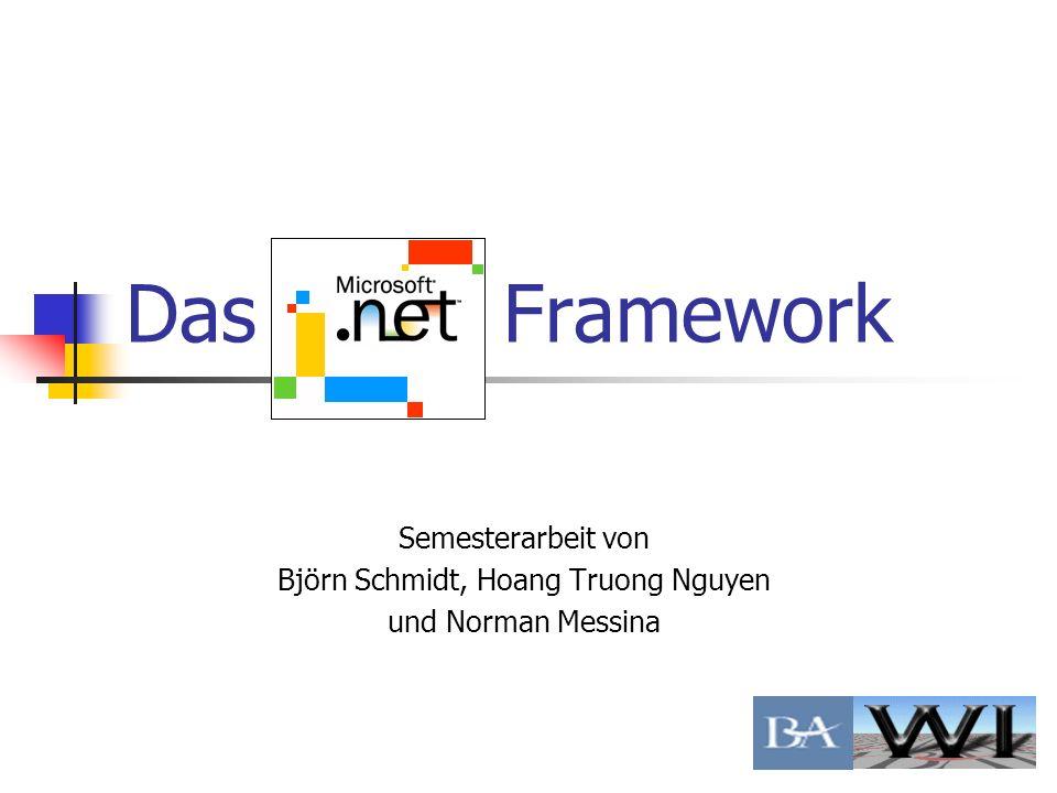 Agenda 1.Einführung Was ist das.net Framework.
