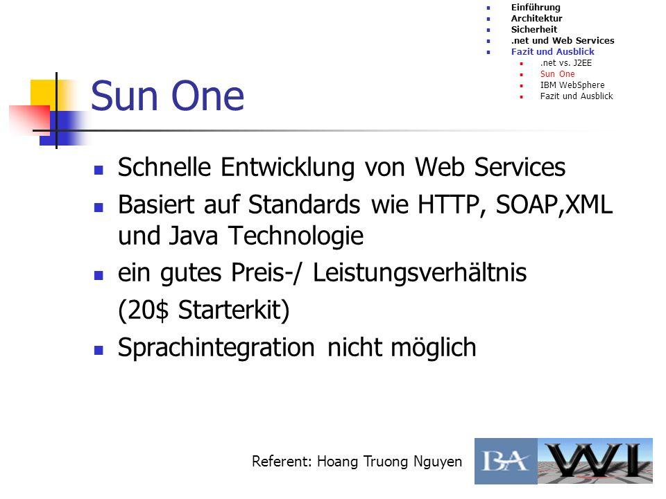 Schnelle Entwicklung von Web Services Basiert auf Standards wie HTTP, SOAP,XML und Java Technologie ein gutes Preis-/ Leistungsverhältnis (20$ Starter