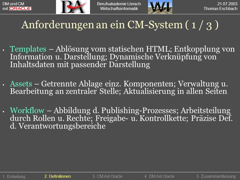 Berufsakademie Lörrach Wirtschaftsinformatik Templates – Ablösung vom statischen HTML; Entkopplung von Information u. Darstellung; Dynamische Verknüpf