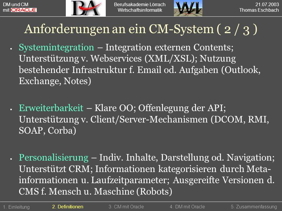 Berufsakademie Lörrach Wirtschaftsinformatik Systemintegration – Integration externen Contents; Unterstützung v. Webservices (XML/XSL); Nutzung besteh