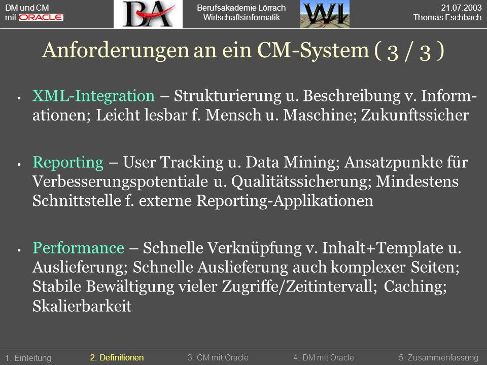 Berufsakademie Lörrach Wirtschaftsinformatik XML-Integration – Strukturierung u. Beschreibung v. Inform- ationen; Leicht lesbar f. Mensch u. Maschine;