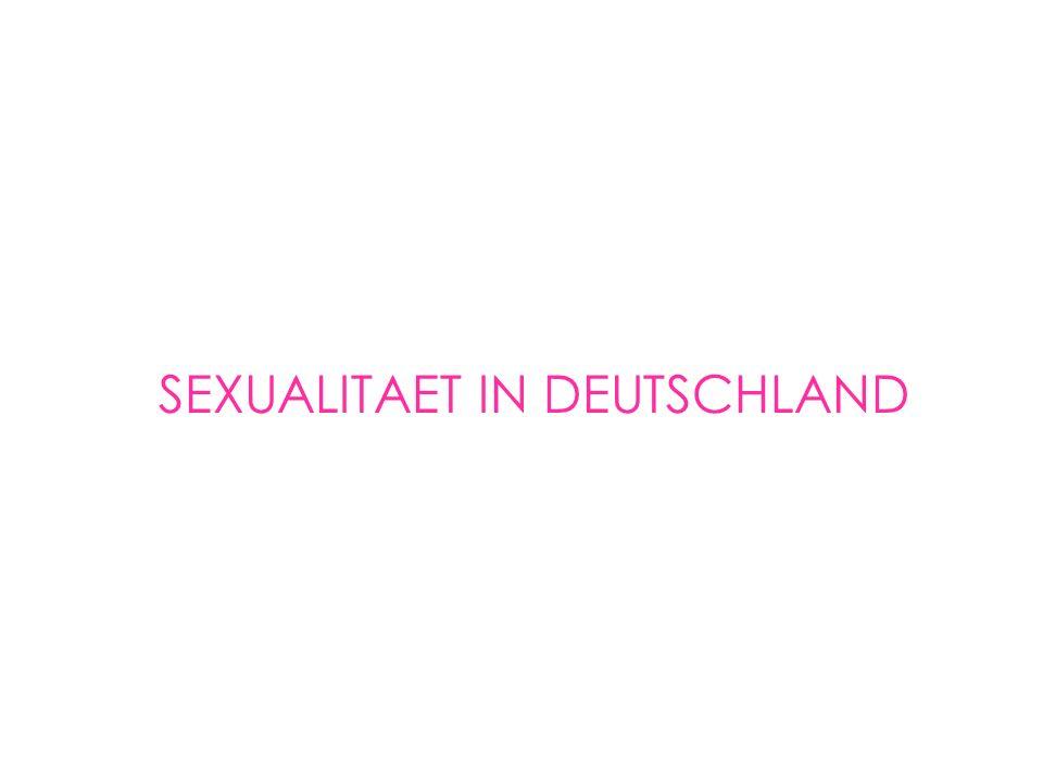 SEXUALITAET IN DEUTSCHLAND