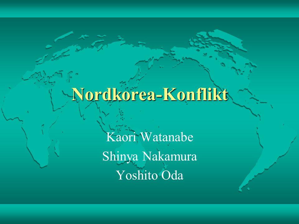 Nordkorea-Konflikt Kaori Watanabe Shinya Nakamura Yoshito Oda