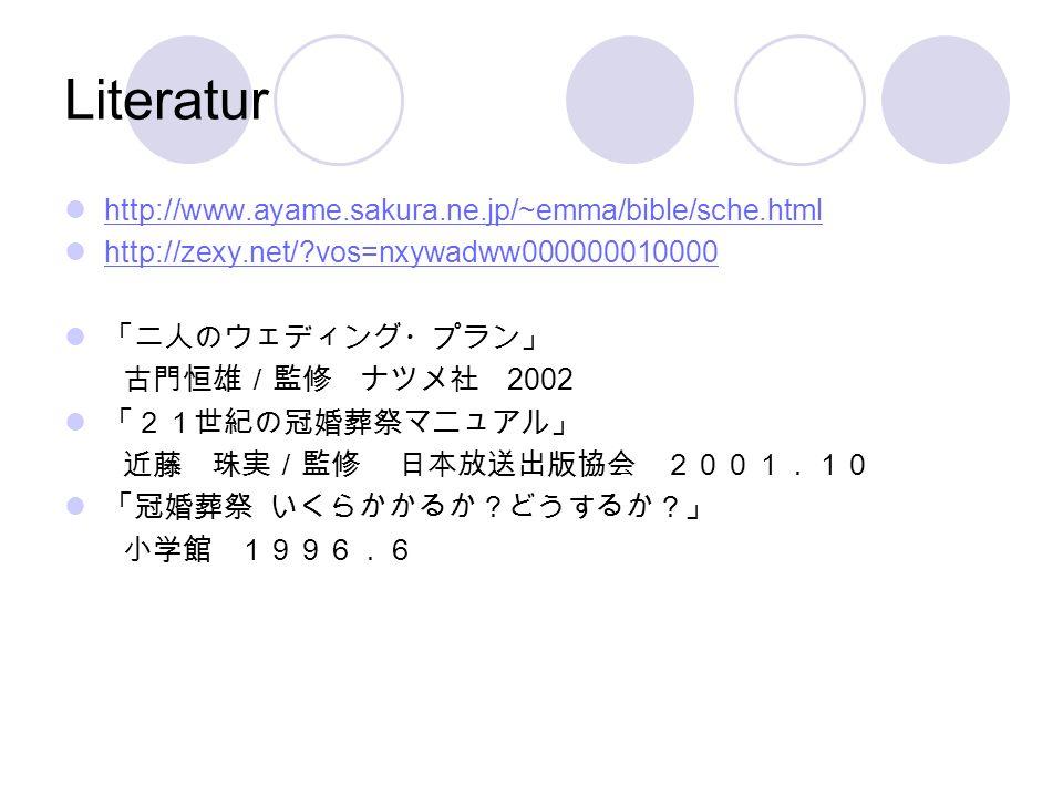 Literatur http://www.ayame.sakura.ne.jp/~emma/bible/sche.html http://zexy.net/?vos=nxywadww000000010000 2002