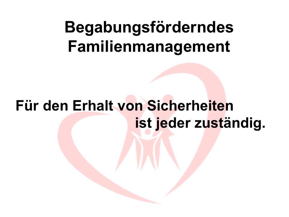 Begabungsförderndes Familienmanagement Stoße niemandem vor den Kopf und trete für Ich- & Gemeinwohl ein.