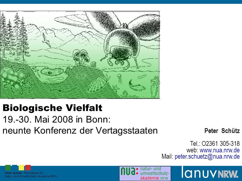 Landesamt für Natur, Umwelt und Verbraucherschutz Nordrhein-Westfalen Biologische Vielfalt 19.-30.