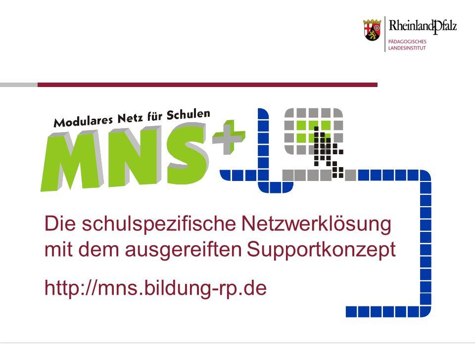 Die schulspezifische Netzwerklösung mit dem ausgereiften Supportkonzept http://mns.bildung-rp.de