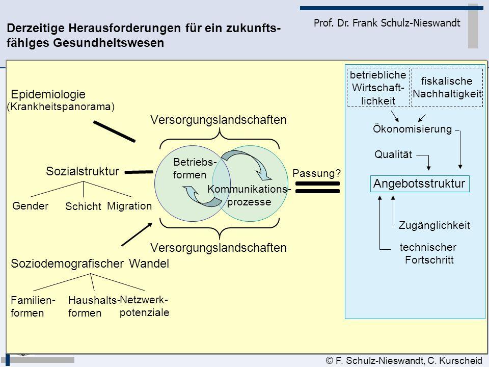 5 Prof. Dr. Frank Schulz-Nieswandt © F. Schulz-Nieswandt, C. Kurscheid Sozialstruktur Soziodemografischer Wandel Epidemiologie Gender Schicht Migratio