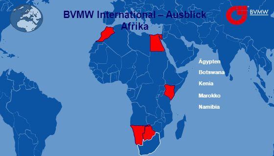 BVMW International – Ausblick Afrika Ägypten Botswana Kenia Namibia Marokko