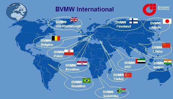 BVMW International BVMW Finnland BVMW Großbritannien BVMW Belgien BVMW Indien BVMW Kroatien BVMW Südafrika BVMW China BVMW Brasilien BVMW Türkei BVMW VAE BVMW Polen BVMW Japan