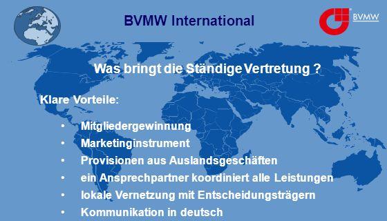 BVMW International Was bringt die Ständige Vertretung .